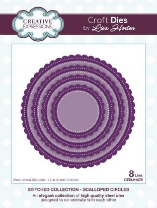 Stitched Collection Scalloped Circles Craft Die